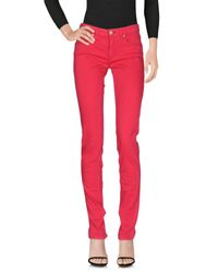 Dondup - Red Denim Pants - Lyst