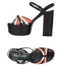 Mulberry - Black Sandals - Lyst