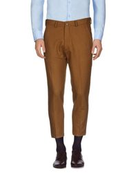 26.7 Twentysixseven - Brown Casual Trouser for Men - Lyst