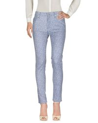 French Connection - Blue Casual Trouser - Lyst
