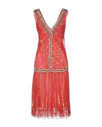 Class Roberto Cavalli Red Knee-length Dress