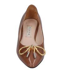 Festamilano - Brown Ballet Flats - Lyst