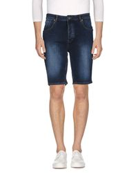 Wesc - Blue Denim Bermudas for Men - Lyst