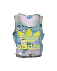 Adidas Originals - Green Vest - Lyst