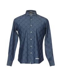 Tintoria Mattei 954 - Blue Shirt for Men - Lyst