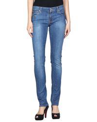 Nudie Jeans - Blue Denim Pants - Lyst