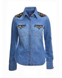 Rockins - Blue Classic Custom Denim Shirt In Medium Indigo - Lyst