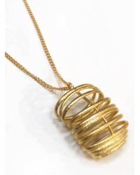 Oddical - Metallic Flossie Pendant Necklace - Lyst