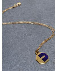 Lily Kamper | Blue Navy Alphabet Pendant: E | Lyst