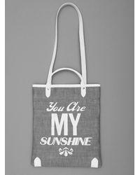 Jam Love London | Multicolor Sunshine Book Bag In Denim With White Type | Lyst