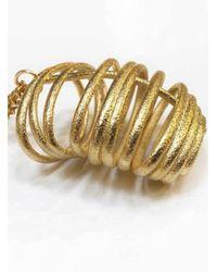 Oddical - Metallic Flossie Pendant Necklace - Lyst