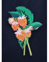 Bruta - Blue Cotton Pin Strawberry Badge - Lyst