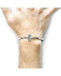 Anchor & Crew - Metallic Soames Gate Midi Silver Bangle for Men - Lyst