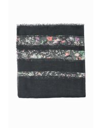 Zadig & Voltaire Gray Kerry Mix Flower Scarf