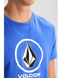 Volcom | Blue Circle Stone Print T-shirt for Men | Lyst