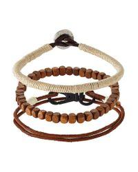 Icon Brand | Brown Winch 3 Pack Bracelet for Men | Lyst