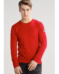 Alpha Industries | Red Long Sleeved Top for Men | Lyst
