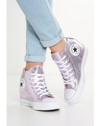 Converse | Chuck Taylor All Star Mid Lux Canvas Metallic High-top Trainers | Lyst