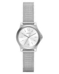 DKNY | Metallic Women's Parsons Stainless Steel Mesh Bracelet Watch 30mm Ny2488 | Lyst