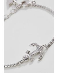 Guess   Metallic Anchor Bracelet   Lyst