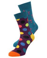 Happy Socks | Purple 2 Pack Socks | Lyst