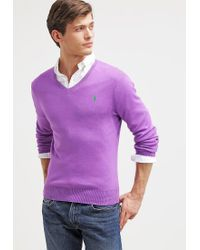 Polo Ralph Lauren | Purple Slim Fit Jumper for Men | Lyst