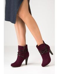 Tamaris | Purple High Heeled Ankle Boots | Lyst