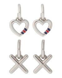 Tommy Hilfiger | Metallic 3-in-1 Earrings | Lyst