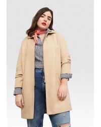 Violeta by Mango | Brown Hole Classic Coat | Lyst