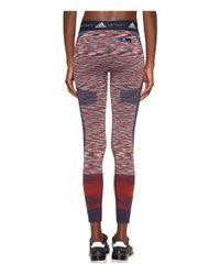 Adidas By Stella McCartney - Red Yoga Seamless Tights Space Dye Cw0452 (navy/dark Callisto/white) Women's Casual Pants - Lyst