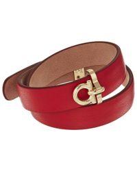 Ferragamo - Red Br Double Pl Bracelet - Lyst