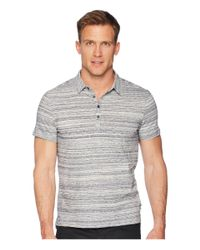 "John Varvatos Gray Short Sleeve Polo Shirt Random Stripe ""siro"" K3655u1b for men"