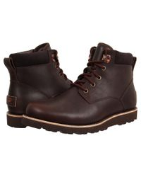 Ugg Brown Seton Tl (stout Leather) Men's Lace Up Casual Shoes for men