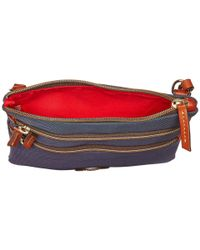 Dooney & Bourke - Blue Nylon North/south Triple Zip - Lyst