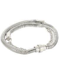 French Connection - Metallic Chain Mix Double Wrap Bracelet - Lyst