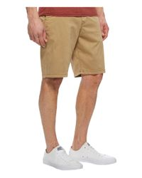 Lucky Brand - Natural Stretch Sateen Flat Front Shorts for Men - Lyst