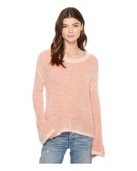 Splendid - Pink Freeboard Two-tone Pullover Sweater - Lyst