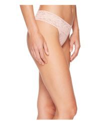 Hanky Panky - Pink Signature Lace Original Rise Thong - Lyst