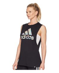 Adidas - Black Badge Of Sport Clear Foil Muscle Tank Top - Lyst