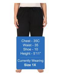 Jockey - Black Cotton Essentials Plus Size Long Pajama Pant (Eggplant) Women's Pajama - Lyst