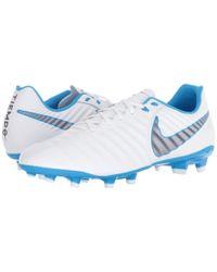 Nike - Tiempo Legend 7 Academy Fg (white/metallic Cool Grey/blue Hero) Men's Soccer Shoes for Men - Lyst