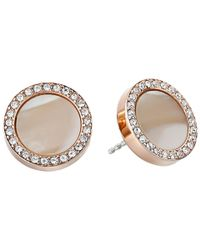 Fossil - Pink Shimmer Horn Studs - Lyst