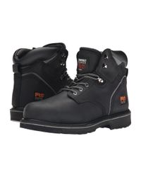 "Timberland - Black 6"" Pit Boss Steel Toe for Men - Lyst"