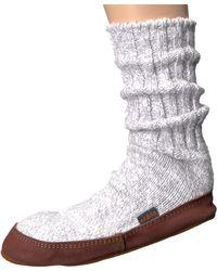 Acorn - Gray Slipper Sock for Men - Lyst