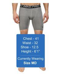 """Nike   Black Pro Cool Compression 6"""" Short for Men   Lyst"""