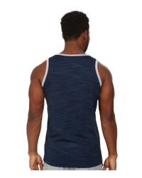 Adidas | Blue Heathered Tank for Men | Lyst