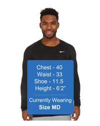 Nike | Black Pro Cool Compression L/s for Men | Lyst