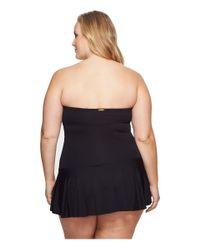 Lauren by Ralph Lauren - Black Plus Size Beach Club Solid Twist Skirted Underwire One-piece - Lyst