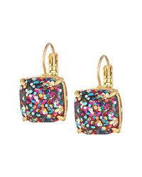 Kate Spade - Multicolor Small Square Leverback Earrings - Lyst
