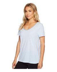 Jockey Short Sleeve Top With Back Keyhole (sky Blue) Pajama